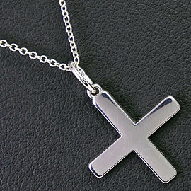 TIFFANY & Co Silver cross for Shiseido Necklace