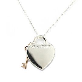 TIFFANY & co. 925 Silver Metal Return To Tiffany Key Pendant Necklace