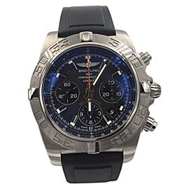 Breitling Chronomat AB0110 Stainless Steel with Blue Dial Automatic 44mm Mens Watch