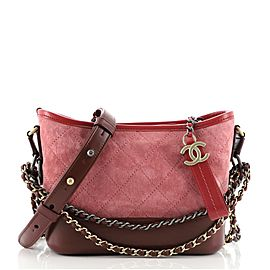 Chanel Gabrielle Hobo Quilted Suede Small