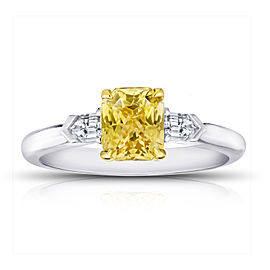 Platinum 18K Yellow Gold 1.64ctw. Sapphire 0.24ctw. Diamond Ring Size 7