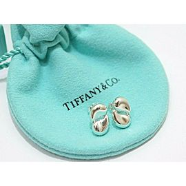 Tiffany & Co. Sterling Silver Elsa Peretti Double Teardrop Earrings