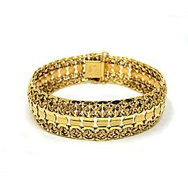 18K Yellow Gold Vintage Fancy Link Chain Bracelet