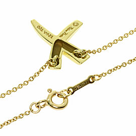TIFFANY&Co. 18k Yellow Gold Kiss Paloma Picasso Necklace