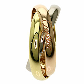 CARTIER 18k Yellow Gold 18k White Gold 18k Rose Gold Trinity Ring