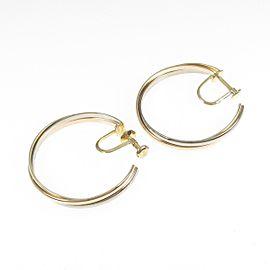 Cartier 18K Pink Gold/18K Yellow Gold/18K White Gold Trinity Hoop Earring TkM-188