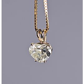 2.92ct Diamond Heart Shaped Pendant