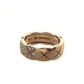 Chanel Coco Crush Ring 18K Beige Gold and Diamonds Small