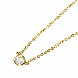 TIFFANY & Co. 18K Yellow Gold ByTheYard Diamond Necklace