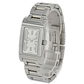 BVLGARI Rettangoro RT39S White Dial SS Quartz Ladies Watch