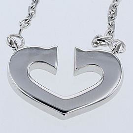 CARTIER 18k White Gold C heart Necklace