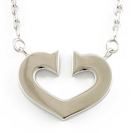 CARTIER 18K white gold C heart Necklace CHAT-245