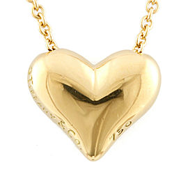 TIFFANY&Co. 18K yellow Gold Teardrop Heart Necklace CHAT-368