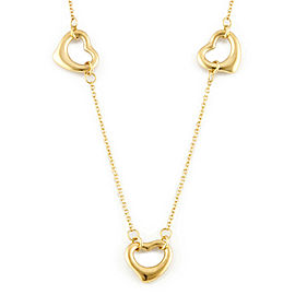 TIFFANY&Co. 18K yellow Gold Open heart heart Necklace CHAT-353