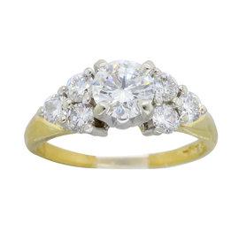 A. Jaffe 18K Yellow Gold Diamond Ring Size 7
