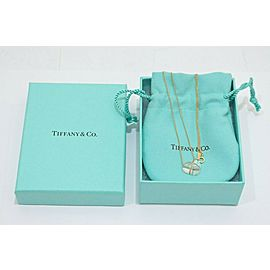 Tiffany & Co. 18K Yellow Gold Heart Crystal Necklace