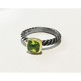 Vintage Rare David Yurman Gold & Sterling Peridot Ring