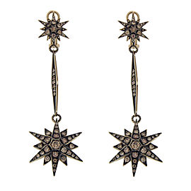 H. Stern 18K Yellow Gold & Champagne Diamonds Genesis Star Earrings