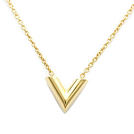 LOUIS VUITTON Brass Essential V Brass Pendant Necklace