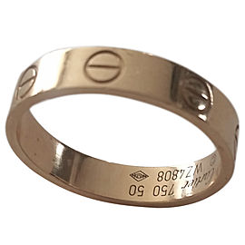Cartier Love 18K Rose Gold Mini Band Ring Size 5.25