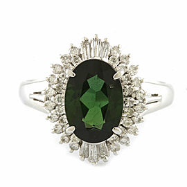 Platinum Tourmaline Diamond Ring CHAT-915