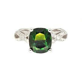 Tacori Platinum Chrome Diopside .28 ctw. Diamond Ring Size 6.5