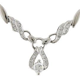 Platinum diamond Leaf leaf Necklace CHAT-877