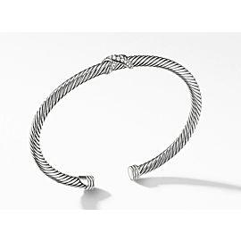 David Yurman Sterling Silver X Station Bracelet with Diamonds, 4mm