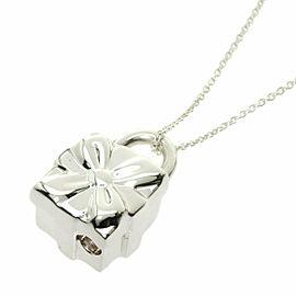 TIFFANY & Co. Silver Box lock Necklace