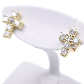 18k yellow gold/diamond Earring