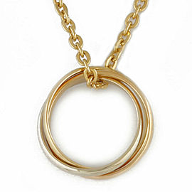 CARTIER 18K Gold 3 colors Trinity Necklace CHAT-233