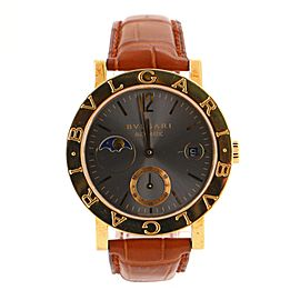 Bvlgari Moonphase Automatic Watch Yellow Gold and Alligator 38