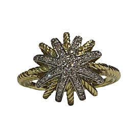 David Yurman Starburst 18K Yellow Gold with 0.17tcw Diamond Ring Size 6.25