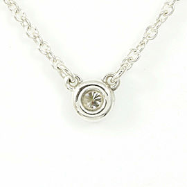 Tiffany & Co. Silver 925 Diamond By The Yard Pendant Necklace CHAT-32
