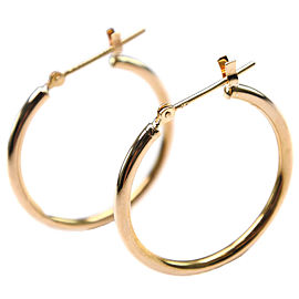 18k yellow gold hoop Earring