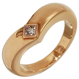 Cartier Diamond Triandle Band Ring in 18K Rose Gold US4.75 w/Box