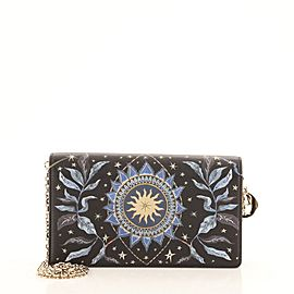 Christian Dior Lady Dior Wallet on Chain Pouch Printed Leather