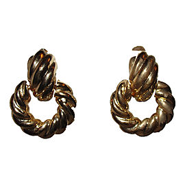 Kenneth Jay Lane 18K Gold Plated Rope Door Knocker Earrings