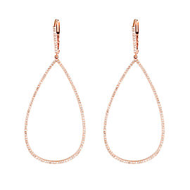 Jordan Scott Design Sc Micro Pave Open Pearshape Earrings