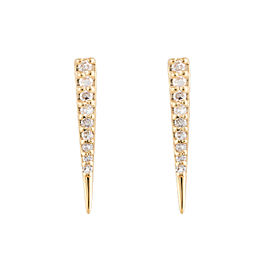 Jordan Scott Design Mini Diamond Pave Hoops