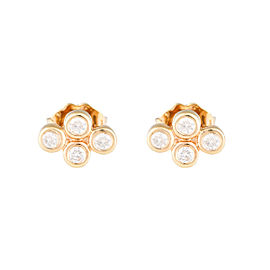 Jordan Scott Design 4 Bezel Cluster Stud Earring