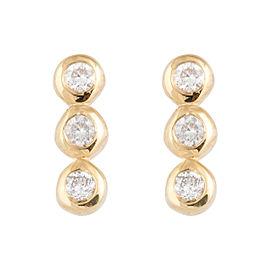 Jordan Scott Design 3 Straight Line Dia Bezel Stud Earring