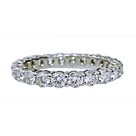 Tiffany & Co .Platinum with 2ct. Diamond Wedding Band Ring Size 6.5
