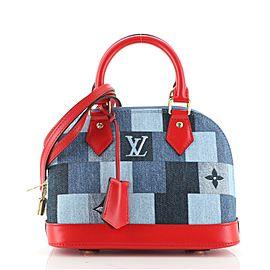 Louis Vuitton Alma Handbag Damier and Monogram Patchwork Denim BB