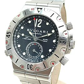 BVLGARI SD38S Stainlees Steel CMT Diagono Scuba Watch