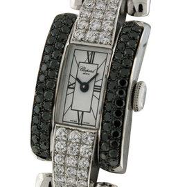Chopard La Strada 18k White Gold Black and White Diamond 18mm x 30mm Watch