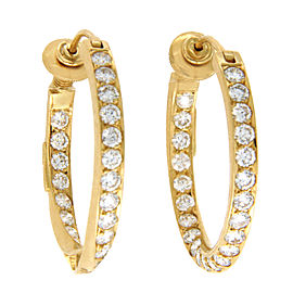 H. Stern 18K Yellow Gold and 4.85ct Diamonds Hoop Earrings