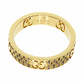 GUCCI 18K Yellow Gold Icon star dust Ring