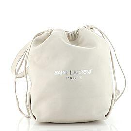 Saint Laurent Teddy Bucket Bag Leather Small