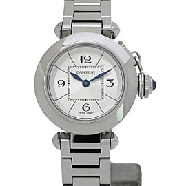 Cartier Pasha W3140007 Stainless Steel Quartz 27mm Womens Watch